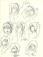 Dash (My New Comic Book Style) Sketches by InvaderSonicMx
