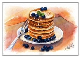 Pancakes with Blueberries by NataliHall
