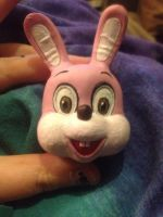 bunny head pink by darknessfulls100