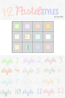 12 Pastel Styles by ValenMp