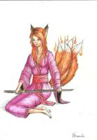 Kitsune of four tails by Yarghu
