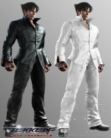 The Difference - His Black Outfit To His White Out by Blood-Huntress