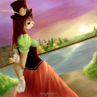 Strolling along the Thames by Akiana-Reverie