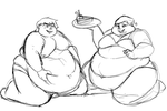 Fatter Ben and Gwen Sketch by red899
