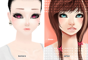 Pear - Before and After by LeHaste