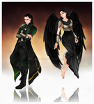 Angel and Loki by dim-serenity