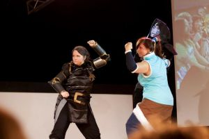 LoK: Lin Bei Fong and Korra - Masquerade by BaGgY666