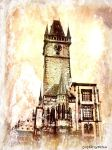 Tower in Prague art by shytiha