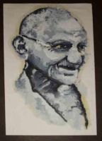gandhi by ben-e-mac