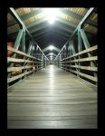 bridge at night with the light by exageth
