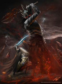 The Last Stand (Fingolfin vs Morgoth) by Morkt