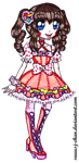 Kirlia LOLITA DESIGN COMMISSION by sekaiichihappy