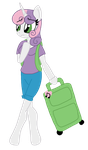 Sweetie Belle At the Airport by LorettaFox