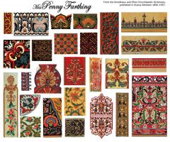 Russian Patterns Collage Sheet by MissPennyFarthing