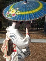 Geisha Parasol Dance 3 by AngelaSasser-stock