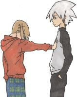 Maka and Soul- Quick Sketch by BloomerwillRule