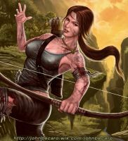 Lara Croft closeup by johnbecaro