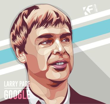 Larry Page by Khrddn-vector