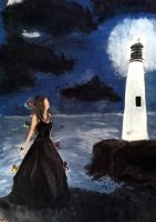 The Girl by the Lighthouse by Animal-Talents
