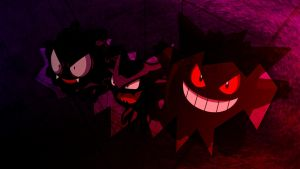Gengar Evolution : Widescreen by applejackles