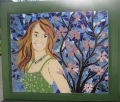 Taija Stained Glass Portrait by reflectionsshattered