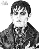 Barnabas Collins Pointillism Portrait by mal42087