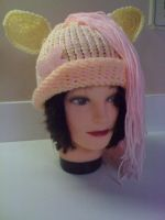 fluttershy inspired hat by superchibiting
