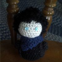 Hand Crocheted Sherlock Chibi by hookedonchibis