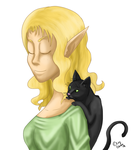 Eruthia and Mittens by Reeno-Alchemist