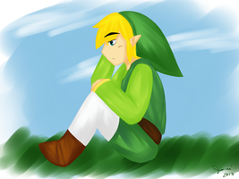 He's thinking about Link things by jian-nei