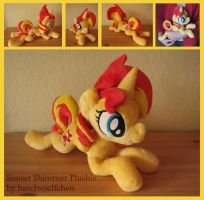 Sunset Shimmer Plushie (larger pattern) by haselwoelfchen