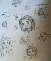 Tangled Doodless by Blizzardwind