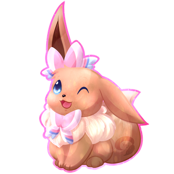 Eevee Charms: Sylveon by KitsuGuardian