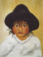 Young child from Bolivia by klazien