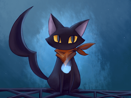 Cat on the Crane by VerminFu