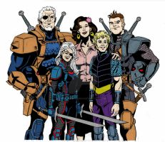 Slade Wilson Family Portrait by Needham-Comics