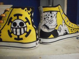 Trafalgar law Converse shoes design by Elison182
