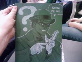 DragonCon sketch Riddler by thejeremydale