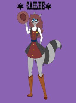 Sly Cooper Oc Femal : Cailee Racoon by helatherabbit08