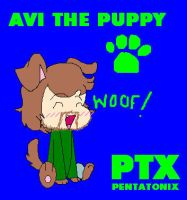 Avi the Puppy by gleefulchibi