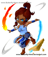 The legend of Korra Chibi by Butterfly-Hime