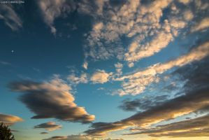 Clouds at sunset by Luks85