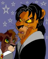 Prof. Scar and Kovu Potter by sirius-blackx2