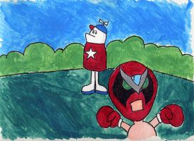 Homestar and Strongbad by meaikoh