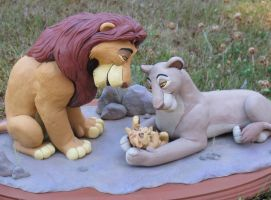 Mufasa and Sarabi with Simba 2 by WickedSairah