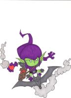 LIL' GREEN GOBLIN ON GLIDER by hclix