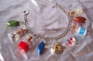 All Custom Hanmade Charms Zelda Bracelet OOAK by TorresDesigns