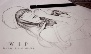 ONLY 2H - Hinata DRAWING WIP by Iza-nagi