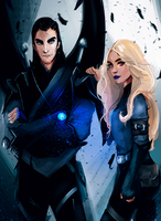 Azriel and Mor by FallonBeaumont