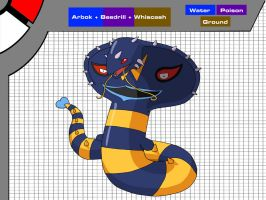 Arbok + Beedrill + Whiscash by Axel-Comics